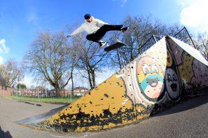 Tylar King Of Chorlton Skate Park Bank Bs Flip