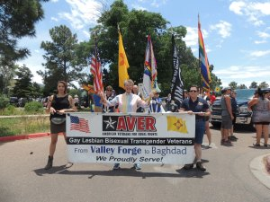 Mayor Pro Tem Signe Lindell opens Santa Fe Pride Parade with AVER