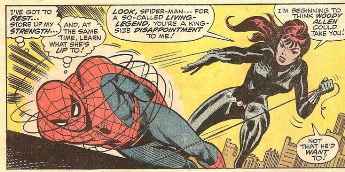 Defeating the Spiderman is one of Black Widow's greatest feat.