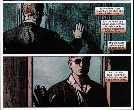 Daredevil on Black  Widow's Heart beat.