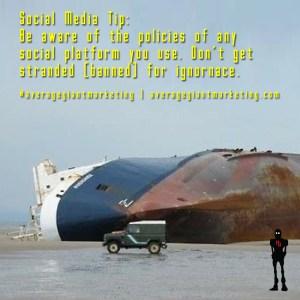 Social Media Tips - Don't get banned