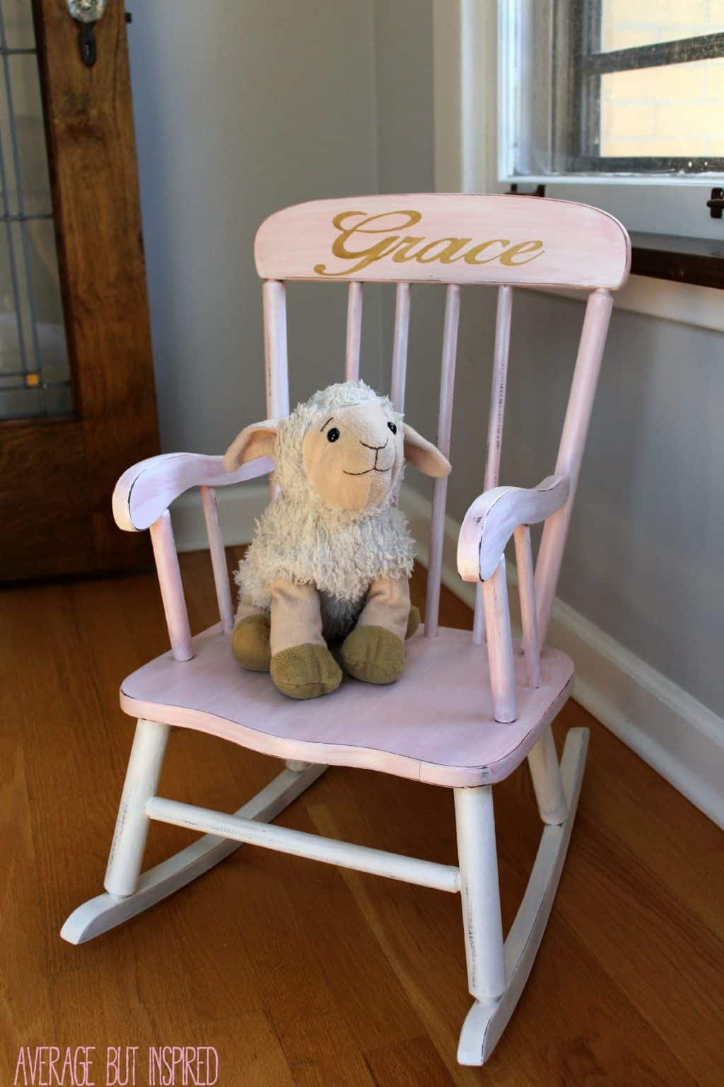 Childrens Rocking Chair Pretty Painted Rocking Chair A Beautiful Baby Gift