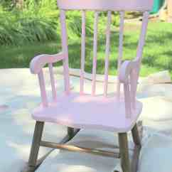 Little Girl Rocking Chair Canopy Beach Pretty Painted A Beautiful Baby Gift