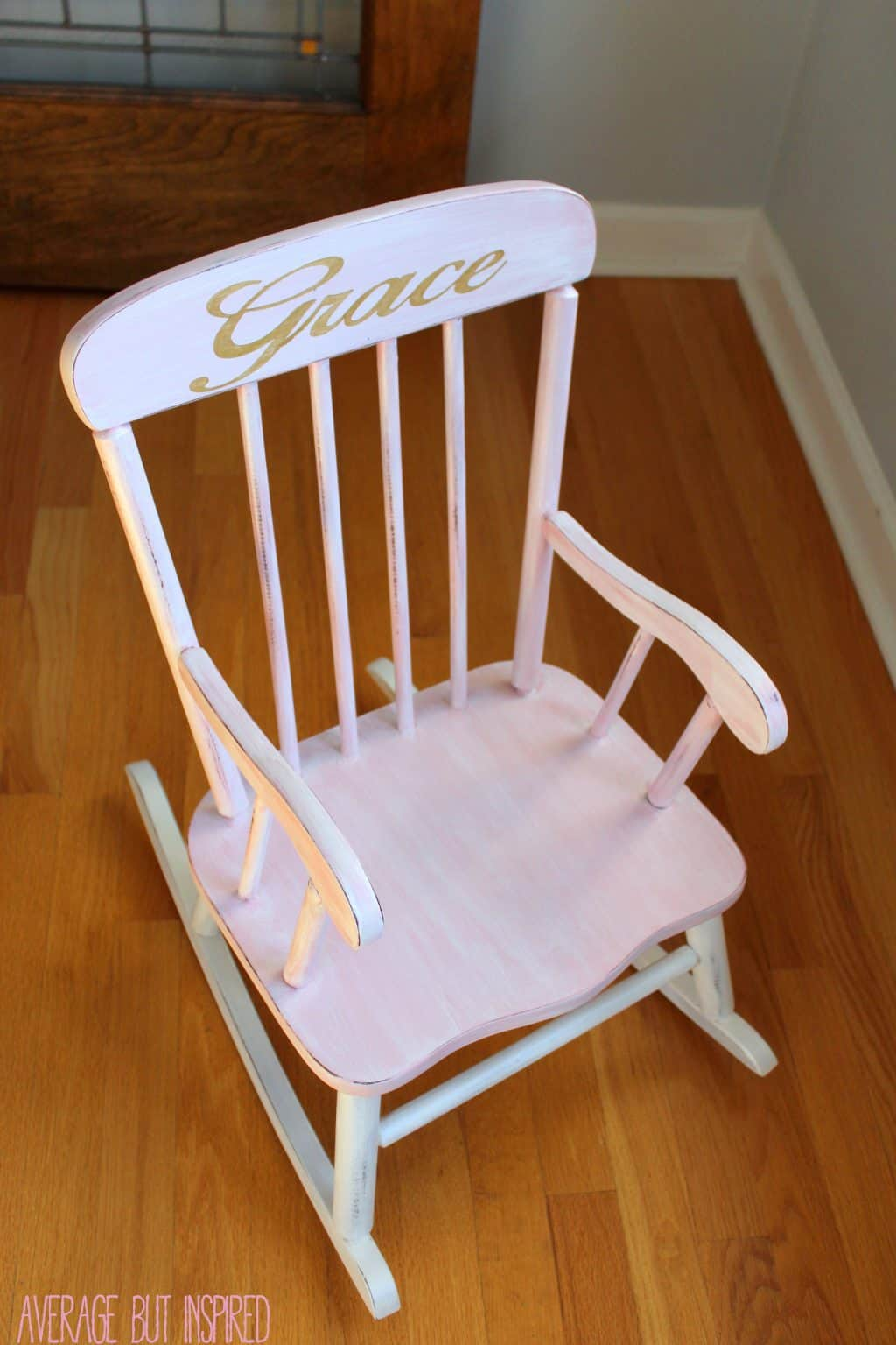 Pretty Painted Rocking Chair  A Beautiful Baby Gift