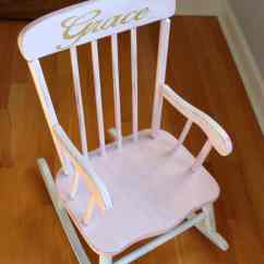 The Rocking Chair Store Unfinished Wood Pretty Painted A Beautiful Baby Gift