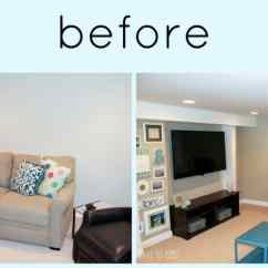 Basement Living Rooms Small Room Decorating Ideas With Fireplace A Big Makeover Got And