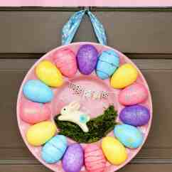 Dollar Tree Easter Chair Covers And Couch How To Make An Egg Tray Wreath For With Store Supplies Turn A Plastic Deviled From Into Adorable