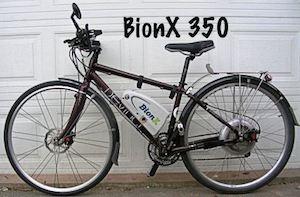 My Devinci Copenhagen, retrofitted with a BionX Electric bike kit