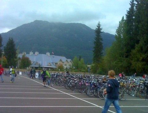 Finish Line of the Gran Fondo Whistler