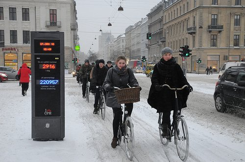 Cycling in Montreal. Even in the winter, many people are brave enough to tackle cycling in Montreal. The infrastructure makes this possible