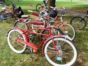 Beautiful bikes belonging to members of Vancruisers Vancouver Cycling Culture