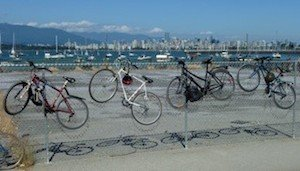 Photo by Peter Ladner shows the beauty of Vancouver cycling culture