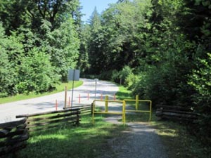 The Springboard Trail in Belcarra Park deviates on to Tum-Tumay-Whueton Drive for short sections, but there are cycle lanes