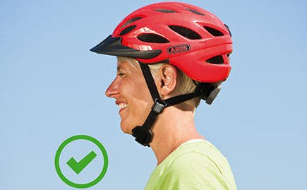 The right way to wear your bike helmet
