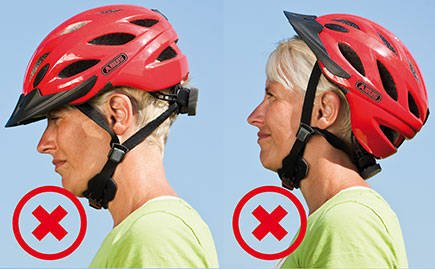 Two of the wrong ways to wear your bike helmet