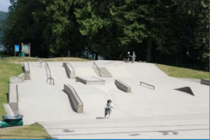 Sk8 park near Shoreline Trail, Rocky Point Park. Shoreline Trail in Rocky Point Park, Port Moody, BC, Canada – Guide and videos