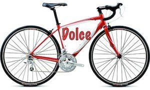 The Specialized Dolce is an example of an aluminum bike, and is also a strikingly good looking bike - click above for a review - bike terms