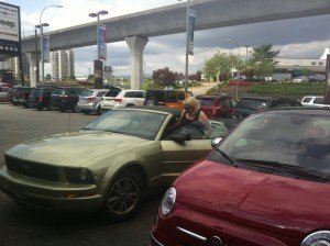Fiat 500 review - photo of mustang and fiat