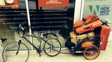 Spotted in New Westminster – a Bike with a Real Job
