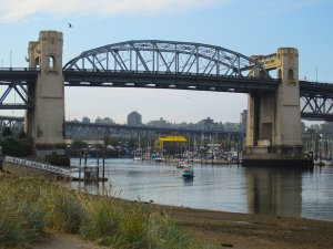 Burrard Bridge, as seen from the Seaside Bike Route - Average Joe Cyclist