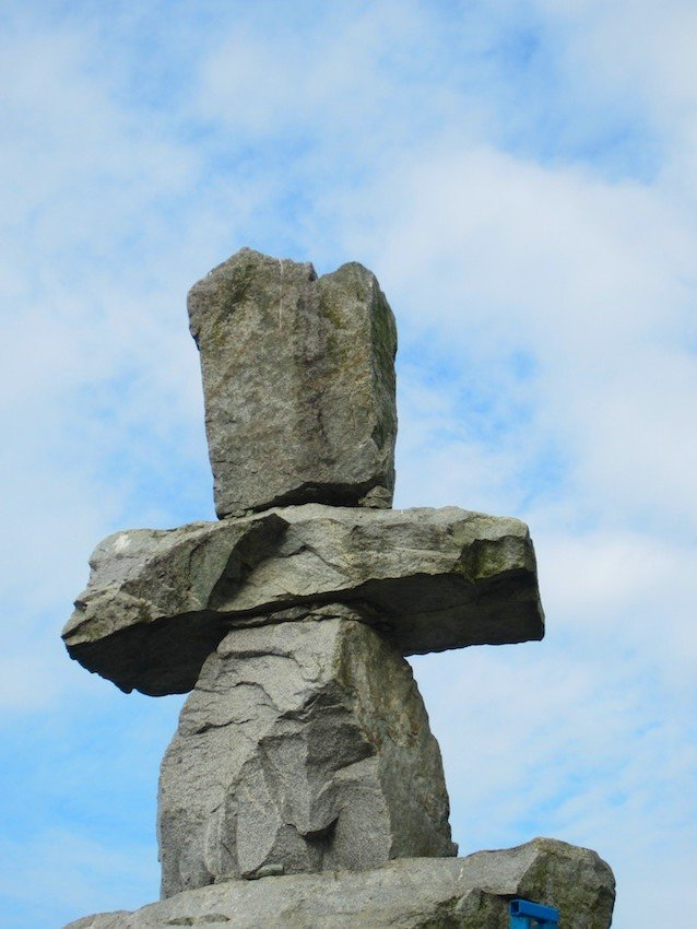 Inukshuk Statue - Seaside Route Vancouver - Average Joe Cyclist
