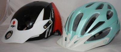 Best Bike Helmet under $80 - Urge Endur-O-Matic Helmet Review. Urge Endur-O-Matic Helmet side by side with Bontrager helmet