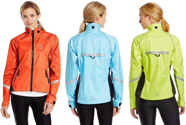 The Showers Pass Jacket comes in red, blue, and yellow