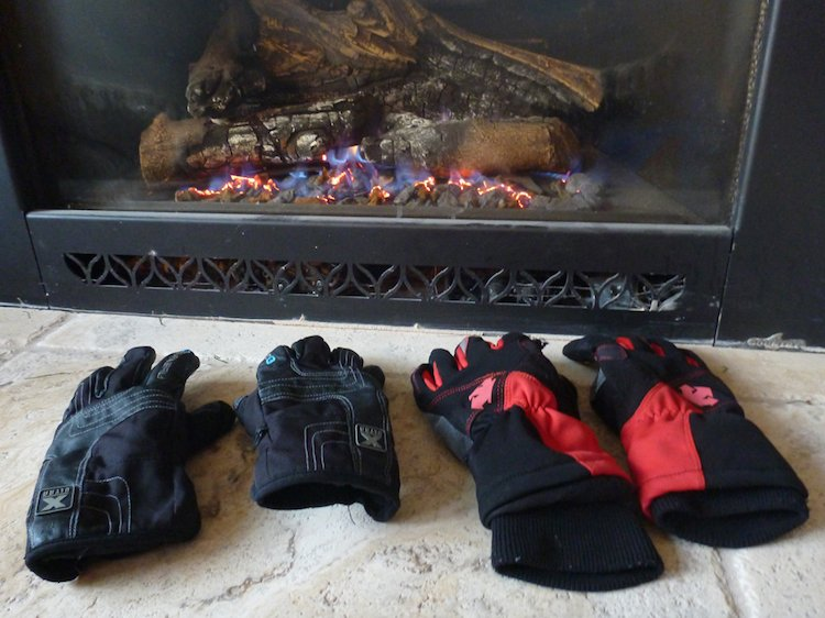 "Drying out our ""waterproof"" cycling gloves"