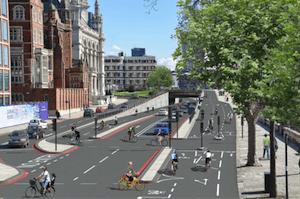 Proposed bike superhighways in London