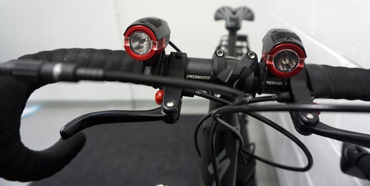 I transferred my Electron Terra bike lights from my old bike to my new Specialized Tricross. they fit nicely between the extra set of brake levers