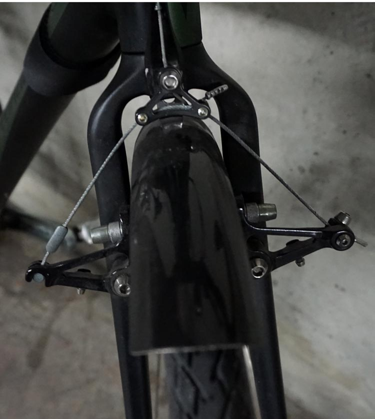 I find the Tektro Cantilever brakes are definitely good enough on my Specialized Tricross - even on steep, wet downhills