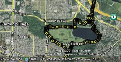 Deer Lake Park Bike Trails in Burnaby, BC, Canada - Guide plus Videos. Map of Deer Lake Park bike ride, recorded on a Garmin Edge 520 GPS bike computer. Deer Lake Park Bike Trails in Burnaby, BC, Canada