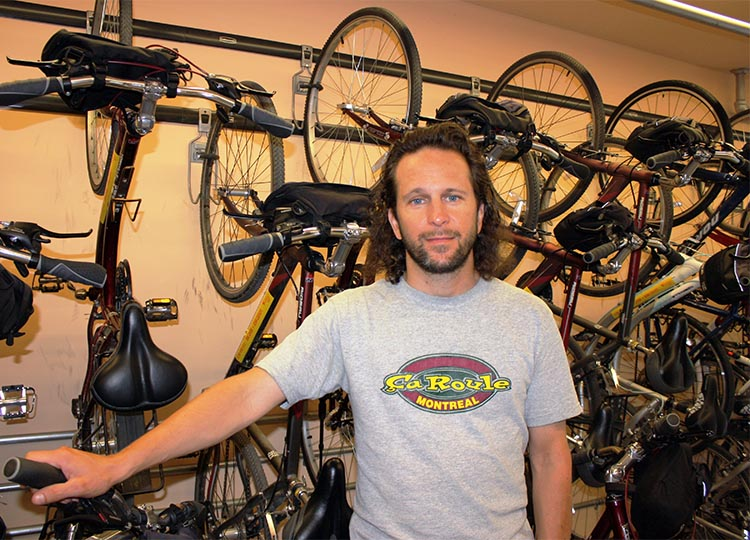 How to rent bikes in Montreal, Canada. The ever-helpful Miguel, who helped us out with Montreal bike rentals