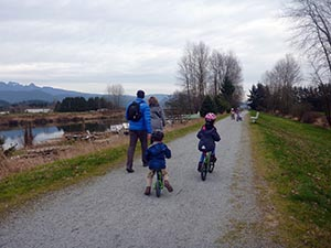 You can even ride a balance bike along the Osprey Link dog friendly Trail!