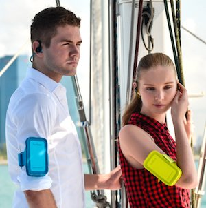 Plantronics BackBeat Fit come with a case and band that you can wear on your arm to carry your smart phone. Plantronics Backbeat FIT vs Backbeat Go 2 Bluetooth Headphones