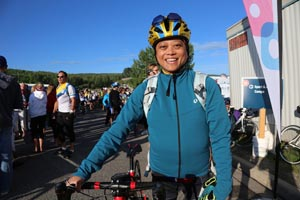 Michelle at the Calgary Ride Opening Day - Ride to Conquer Cancer