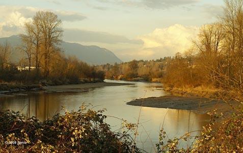 The Coquitlam River runs next to the Poco Trail