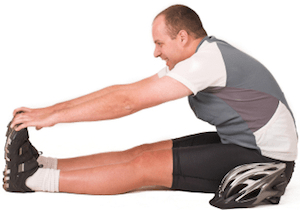 Don't forget to stretch! Click the picture above for a simple stretching regime that will save you from cycling knee pain