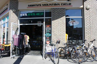 Marty's Mountain Cycle in Esquimalt got us back in action quickly