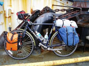 Lochside trail bikes on ferry