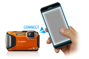 The Lumix DMC-TS5 Lumix underwater camera has built-in Wi-Fi with NFC capability