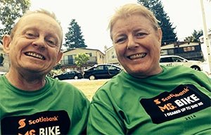 Maggie and Joe after the MS Bike Charity Ride 2014