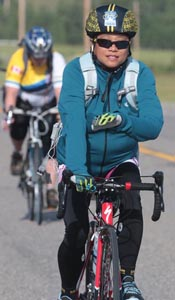 Michelle Sirio, cancer survivor who has done the Ride to Conquer Cancer every year since 2008