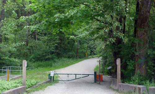 The entrance to Brunette Forest on North Road, Central Valley Greenway - New Westminter cycling