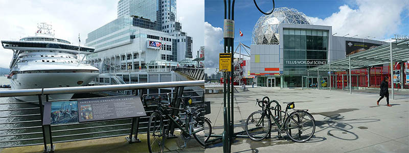 Vancouver Cycling - Convention Centre to Science World