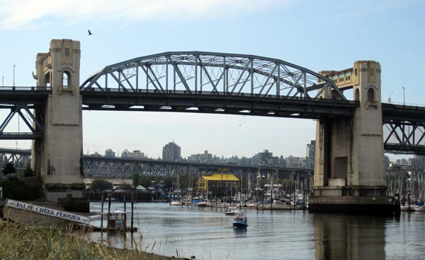 Burrard Bridge, as seen from the Seaside Bike Route