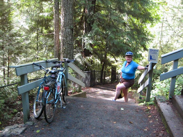 There are viewing platforms so that you can enjoy the amazing views of the Sooke Potholes