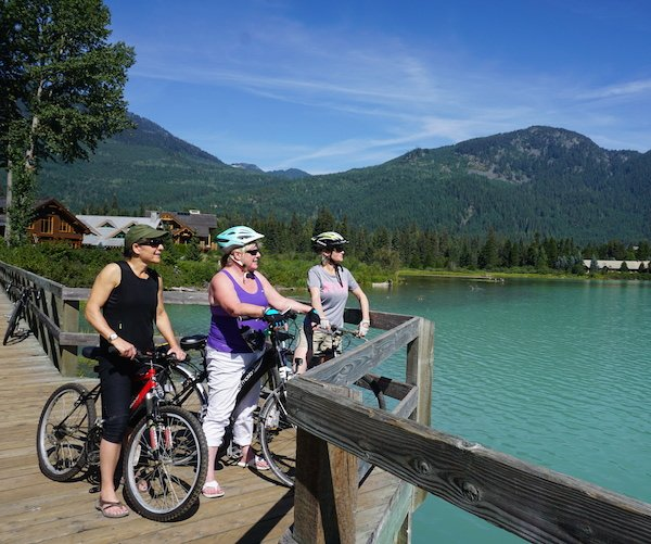 Whichever direction you look in, it's classic Whistler and absolutely beautiful. How to have a fun cycling vacation in Vancouver