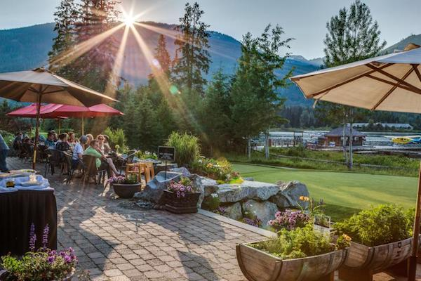Table Nineteen Lakeside Eatery at the Nicklaus North golf course claims to have the best patio in Whistler. Whistler Valley Trail – Whistler Village to Green Lake
