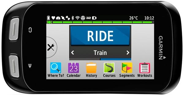 The Edge 1000 has the largest screen of any bike computer. This makes it great for navigation. Plus, you can turn the Edge 1000 into landscape mode, so you see the maps even more clearly. I really like the new icons based interface on the Garmin Edge 1000. Garmin Edge 1000 vs 820 vs 520